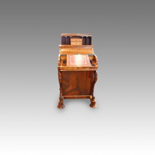 Victorian walnut 'pop up' piano top Davenport desk,9