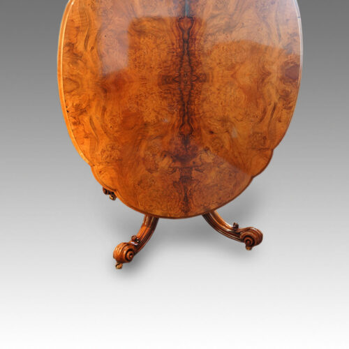 Victorian walnut shaped loo table,9