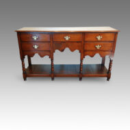 Antique oak boarded pot-board dresser
