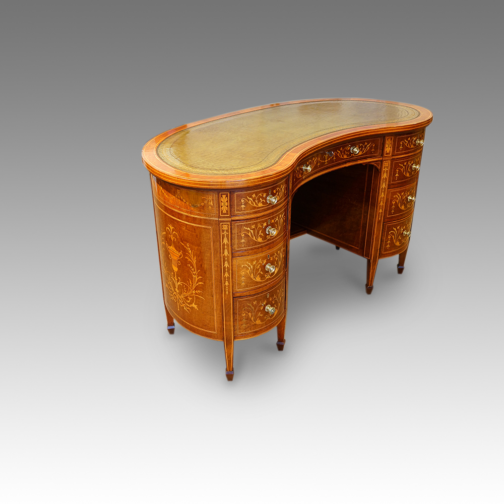 shaped kidney preview desks loveantiques sheraton style desk com antique