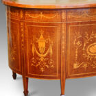 Antique desk with inlay