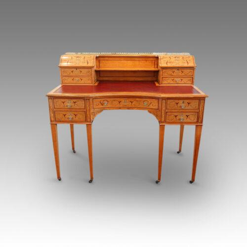 Edwardian inlaid satinwood ladies desk