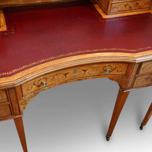 Edwardian desk concave drawer front