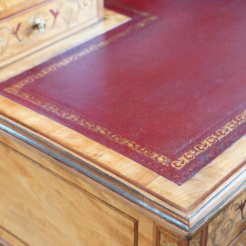 Antique desk leather
