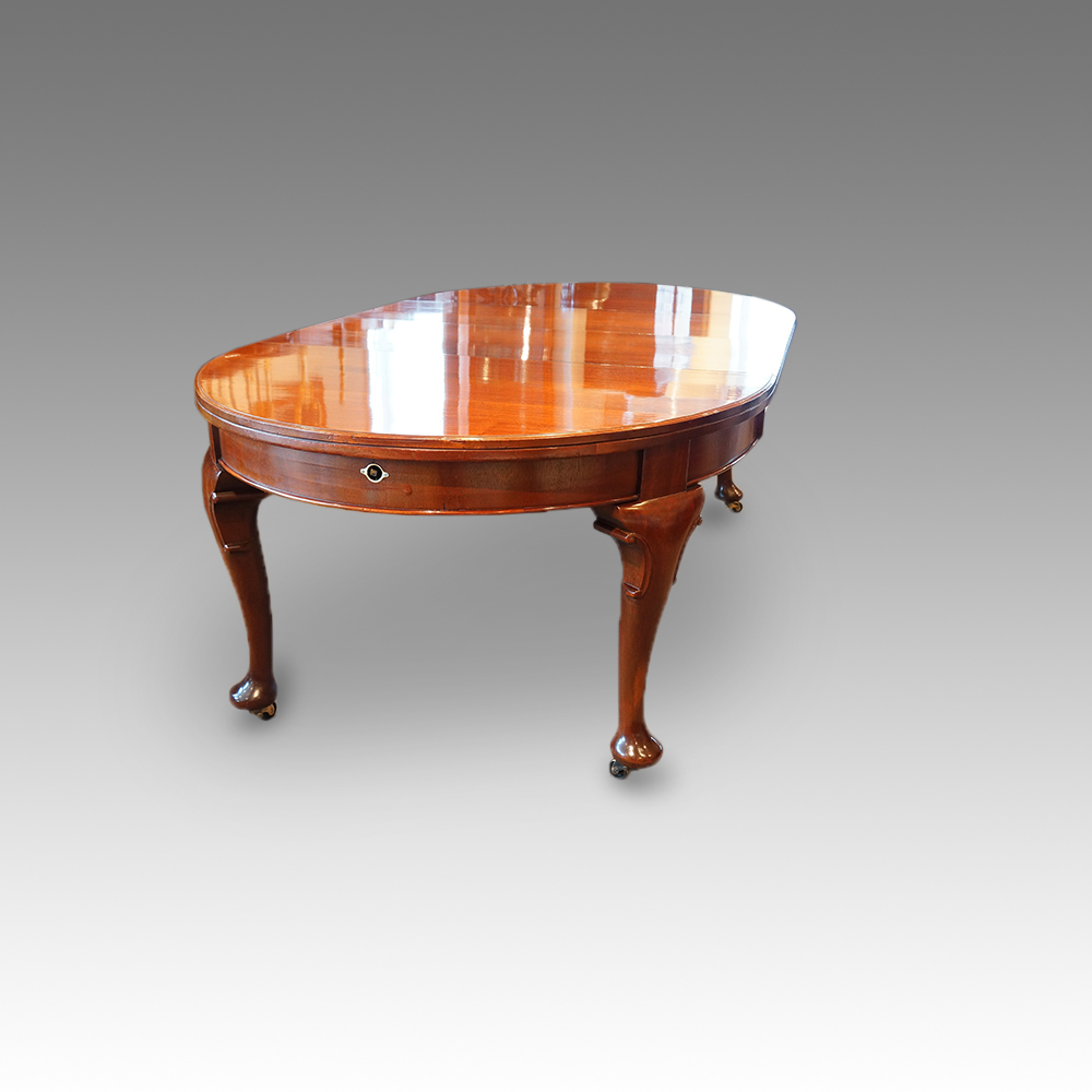 Edwardian Oval Mahogany Extending Dining Table Hingstons Antiques Dealers