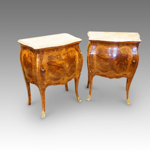 Pair Antique walnut bedside cabinets