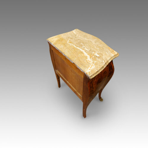 Marble top bedside cabinet