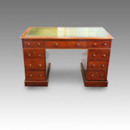 Victorian mahogany double pedestal desk