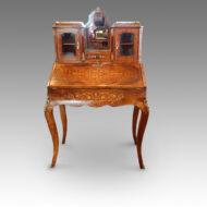 Victorian walnut bureau de dame