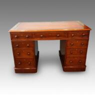Victorian walnut pedestal desk 123cms