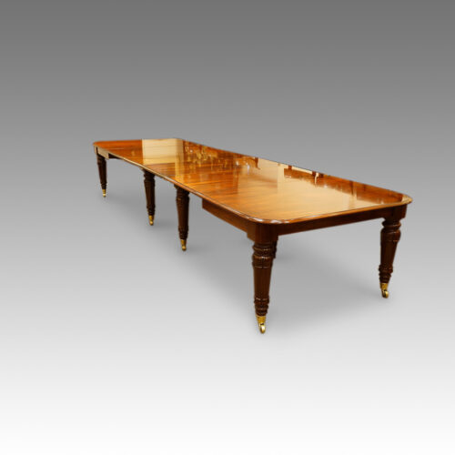 William IV mahogany 16 seat dining table