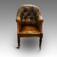 Antique leather desk chair
