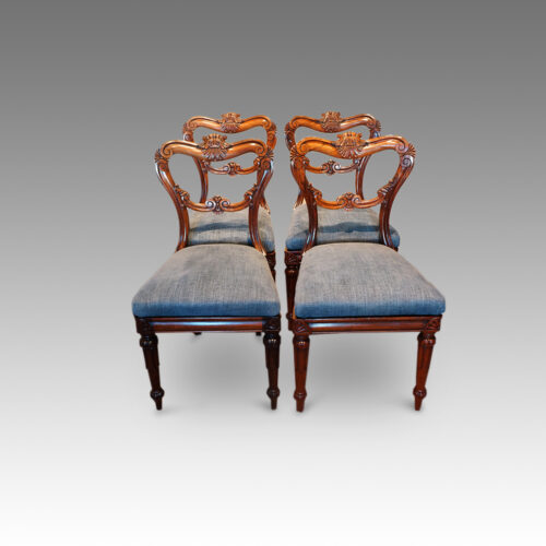 Set of 4 William IV rosewood dining chairs