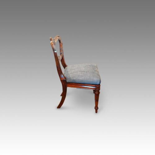 William IV dining chair side view