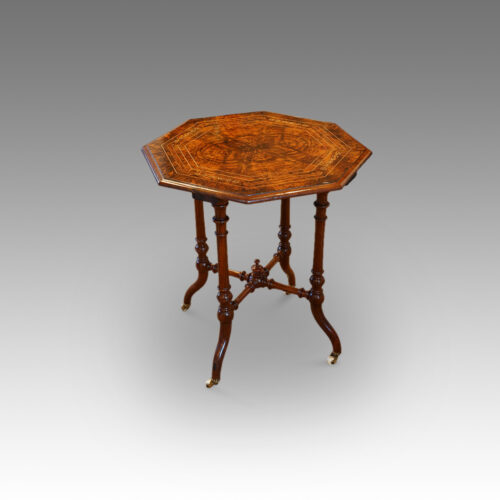 Victorian inlaid walnut wine table