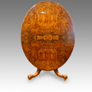 Victorian oval burr walnut dining table