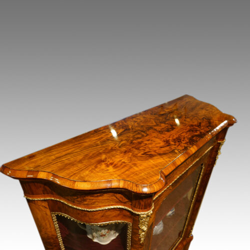 Victorian walnut cabinet top