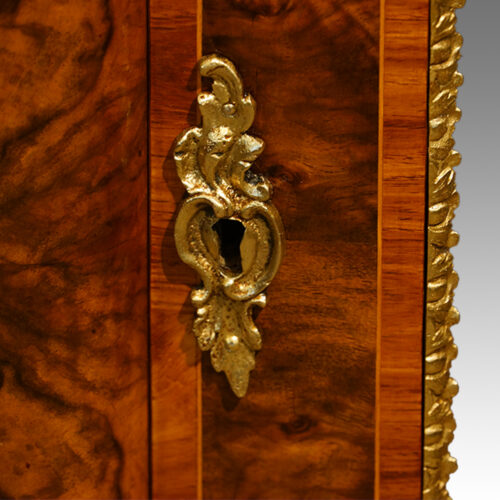 Keyhole plate on Victorian side-cabinet