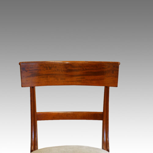 Antique bar-back dining chair