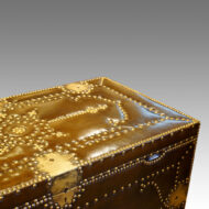 Leather brass studded trunk