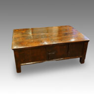 Antique Colonial hardwood coffee table trunk