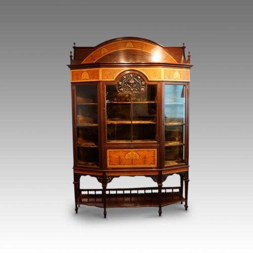 Art Nouveau inlaid display cabinet