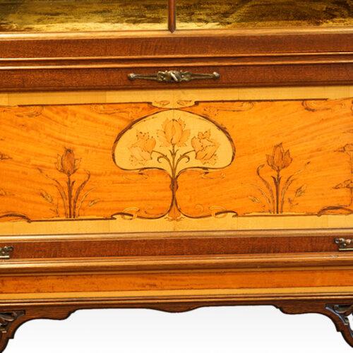 Art Nouveau inlaid panel