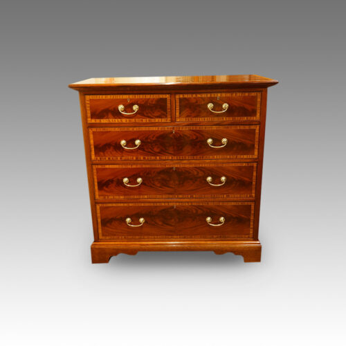 Edwardian inlaid mahogany chest of drawers