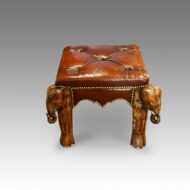 Elephant coffee table and stool
