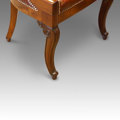 Deck chair front leg