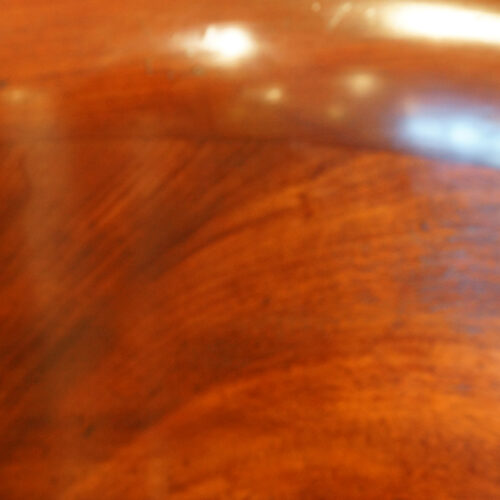 Mahoangy timber on chair back
