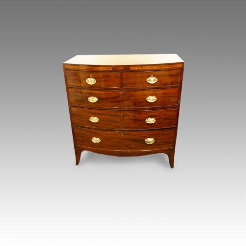 Georgian mahogany bow-front chest