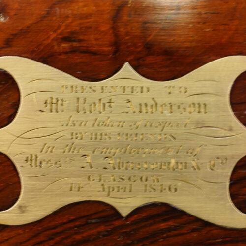 Victorian brass bound rosewood lap-desk