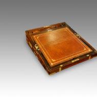 Victorian brass bound rosewood lapdesk