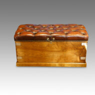 Victorian leather Camphorwood ottoman