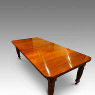 Victorian mahogany extending dining table 1880's