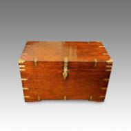 Antique teak military chest