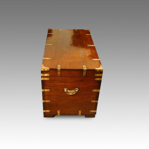 Victorian teak military chest