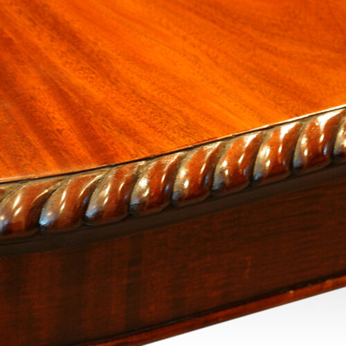Gadrooned edge to dining table