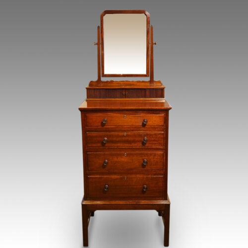 Edwardian mahogany gentlemans dressing chest