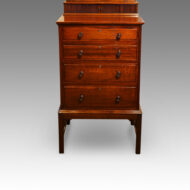 Edwardian mahogany gentlemans dressing chest base
