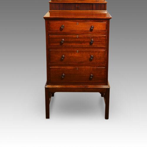 Edwardian mahogany gentlemans dressing chest base