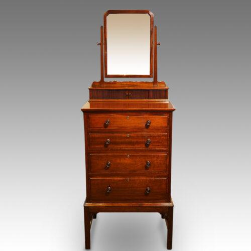 Edwardian mahogany gentlemans dressing chest front