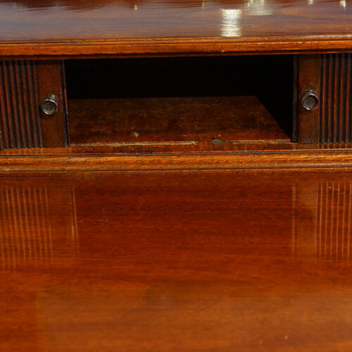 Edwardian mahogany gentlemans dressing chest tambour open