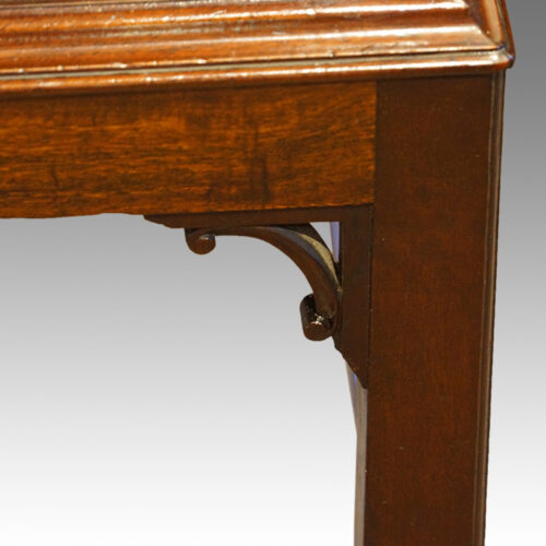 Edwardian mahogany gentlemans dressing chest corner leg bracket