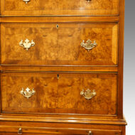 Antique walnut chest on chest