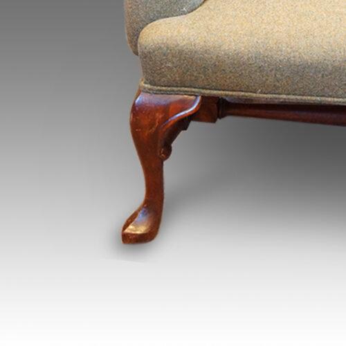 Georgian style wingchair, front leg