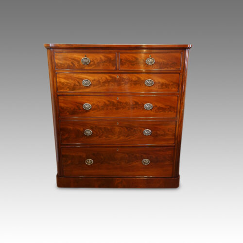 Large Victorian mahogany chest of drawers front