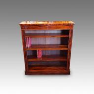 Victorian Goncalo Alves open bookcase