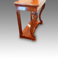William IV mahogany console table side